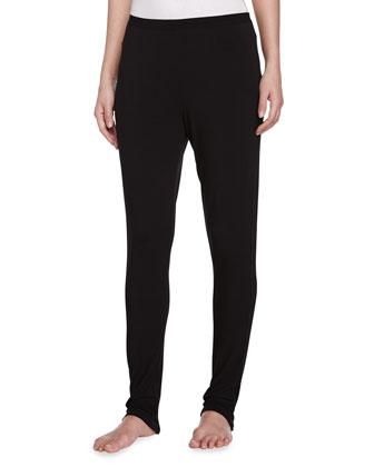 Liquid Jersey Basic Leggings, Black