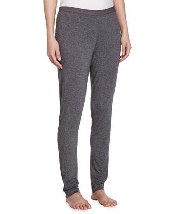 Liquid Jersey Basic Leggings, Dark Gray