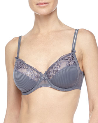 Pont Neuf Underwire Bra & Lace Striped Briefs