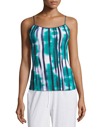 Loire Striped Lounge Camisole, Navy Blue