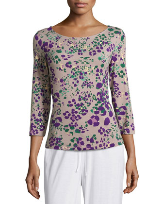 Pink Panther 3/4-Sleeve Pajama Top, Purple Multi