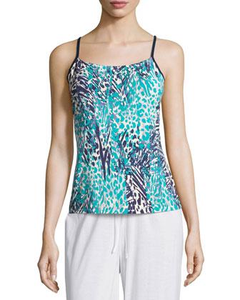 Sapna Pajama Camisole, Navy Blue