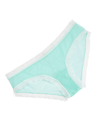 Dream Lace-Trimmed Hotpants, Venet Green/White