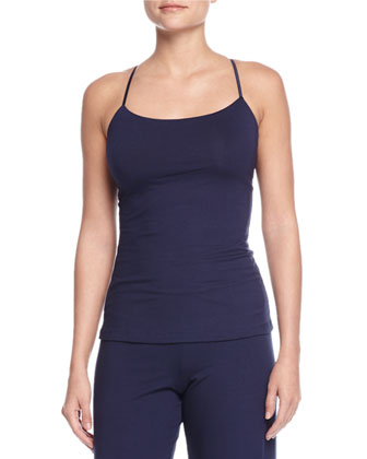 Talco Racerback Camisole & Wide-Leg Lounge Pants, Navy