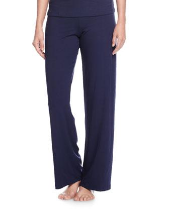 Talco Wide-Leg Pants, Navy