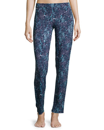Concorde Printed Slim Lounge Pants, Blue Pattern