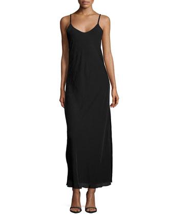 Sleeveless V-Neck Gown, Black