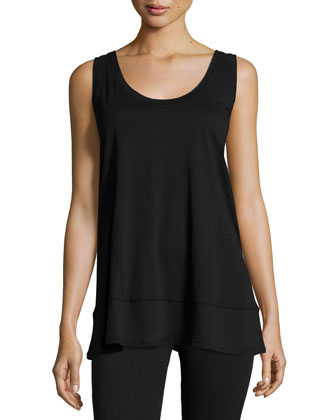 Scoop-Neck Tank Top, Black
