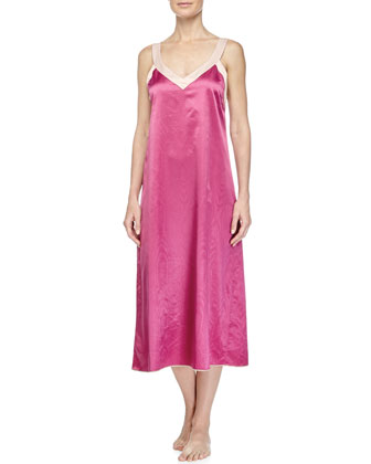 Monte Carlo Satin Long Robe & Cassis Long Gown