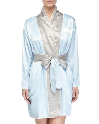Riviera Satin Short Robe
