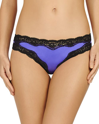 Clara Whispering Bikini Briefs, Bluebell/Black