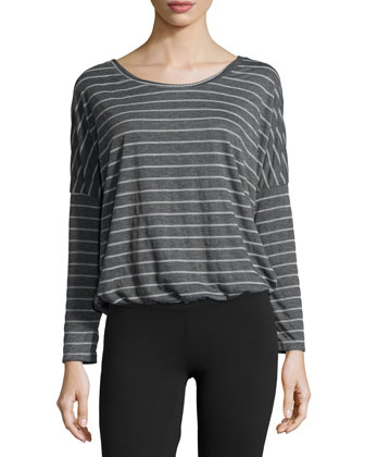 Ticking Stripes Slouchy Tee, Thunderstorm