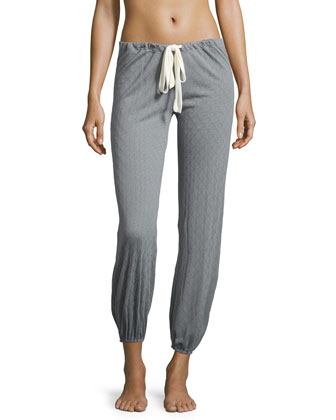 Earl Drawstring Lounge Pants, Smoked Blue