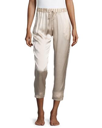 Drawstring Silk Lounge Pants