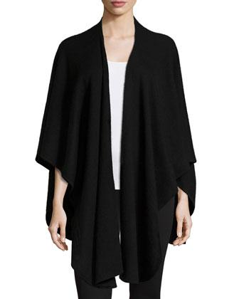 Drape-Front Basic Cashmere Shawl