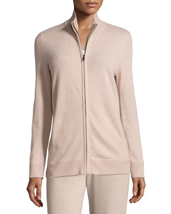 Basic Zip-Up Cashmere Jacket & Cashmere Lounge Pants