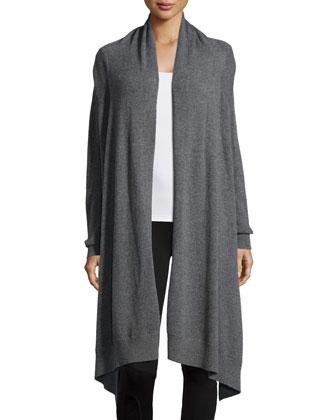 Long-Sleeve Cashmere Blanket Cardigan