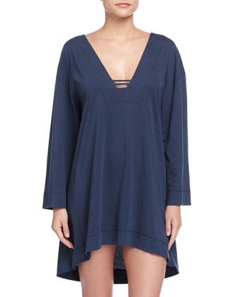Jersey Knit Sleepshirt, Azure