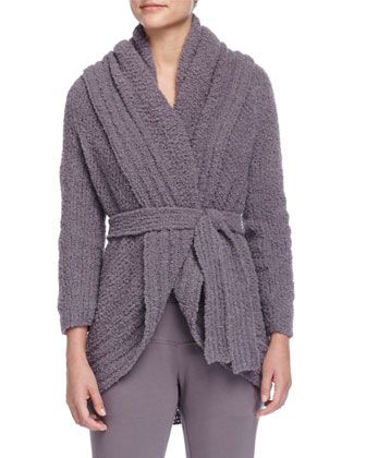 Alpaca Boucle Wrap Cardigan, Sling Off-the-Shoulder Sweatshirt & ...