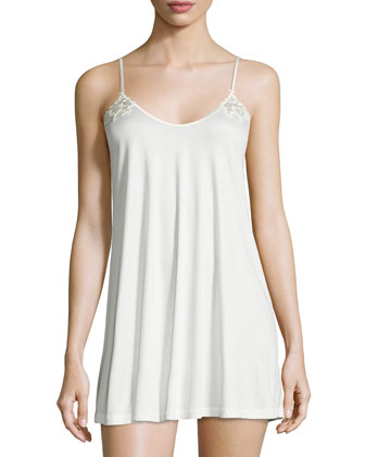 Floralia Babydoll Chemise with Mesh Insert