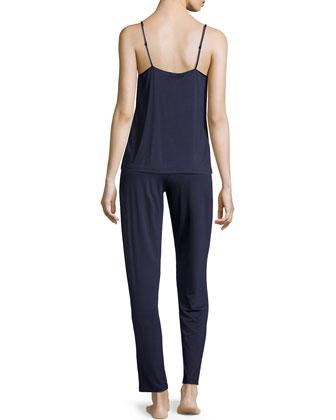 Primula Metallic-Lace Camisole & Drawstring Lounge Pants