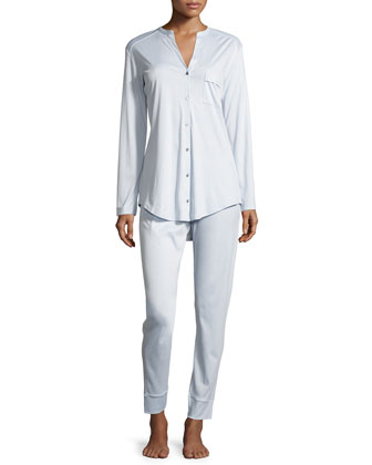 Pure Essence Two-Piece Pajama Set, Blue Glow