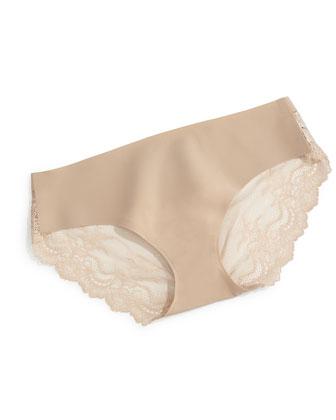 Undie-Tectable?? Lace-Back Bikini Briefs