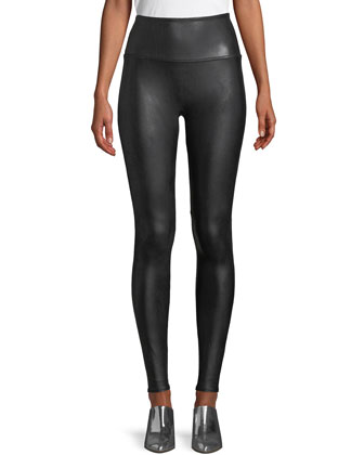 Ready-to-Wow?? Faux-Leather Leggings, Black