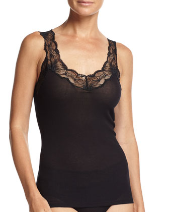Valencia Lace-Trimmed Tank Top