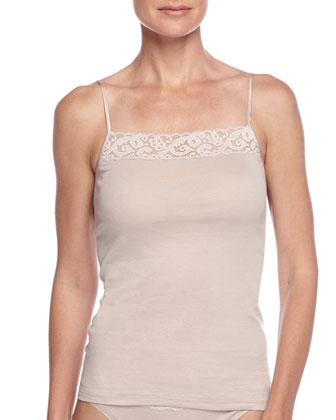 Moments Lace-Trimmed Camisole, Coffee Cream