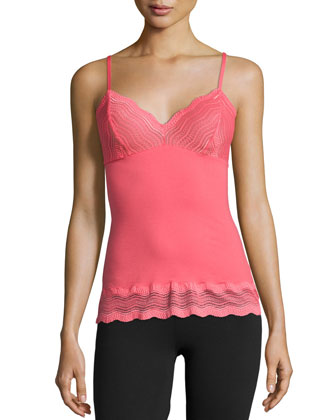 Dolce Lace-Trim Camisole, Coral