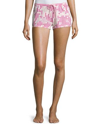 Dottie Polka-Dot Boxer Shorts, Pink Lilly