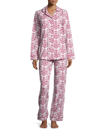 Candy Canes Printed Pajama Set