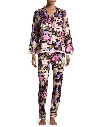 Noir Closet Romantic Floral-Print Pajama Set