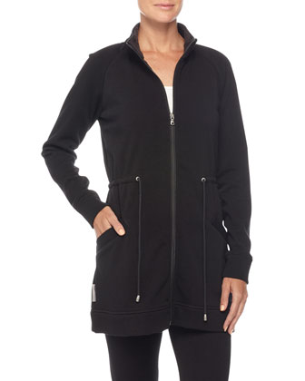 Zip-Front Funnel-Neck Jacket