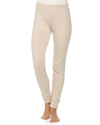 Pile-Lined Banded Leggings