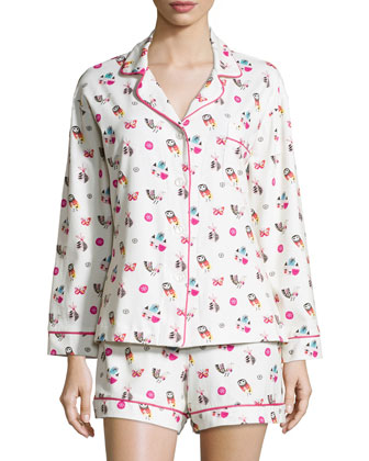 Multi-Printed Shorty Pajama Set