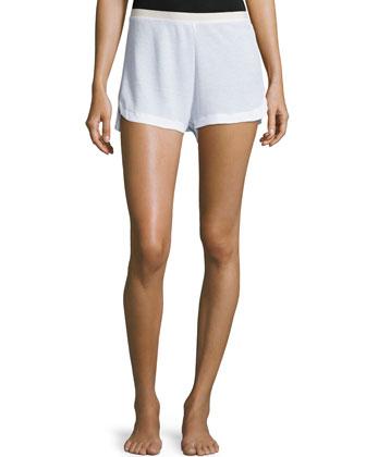 Waffle Lounge Shorts, White
