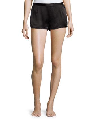 Silk Side-Button Shorts & Scoop-Neck Tank