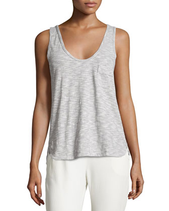 Scoop-Neck Swing Tank, Silver