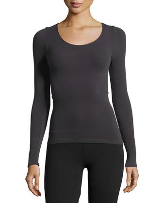 Ballet Body Long-Sleeve Tee, Graphite
