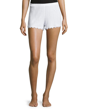 Lace City Ribbed Boxers, White