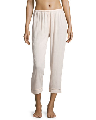 Relaxed-Fit Cropped Pajama Pants, Doll
