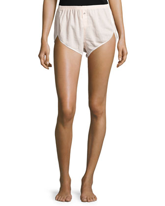 Ribbed-Trim Pajama Shorts, Doll