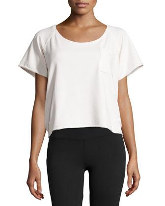 Round-Neck Sweatshirt Tee, Hemp White