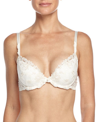 Plaisir Guipure Push-Up Bra & Lace Boyshorts