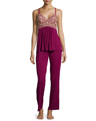 Tile Lily Lace Camisole and Pants Set