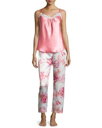 Lace-Trimmed Cami Pajama Set, Roflo