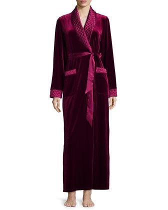 Taylor Velvet Long Wrap Robe