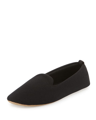 Cashmere-Blend Smoking Slipper